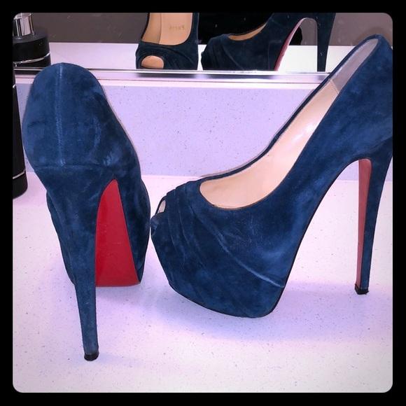 louboutin blue heels
